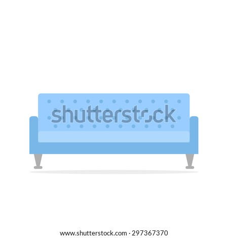 sofa isolated icon retro couch