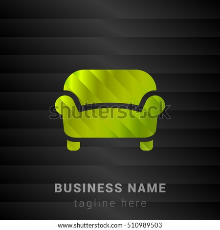 sofa lime green and black silk