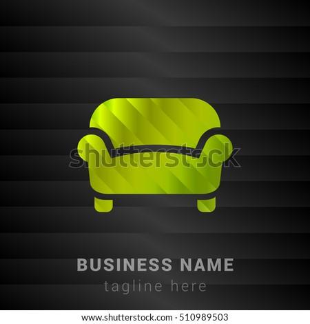 sofa lime green and black silk