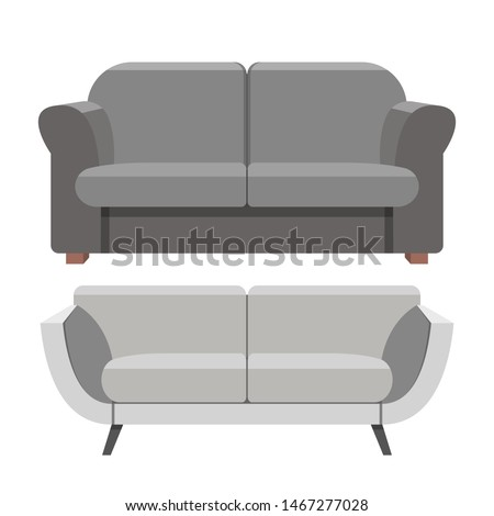 Sofa vector design illustration isolated on white background