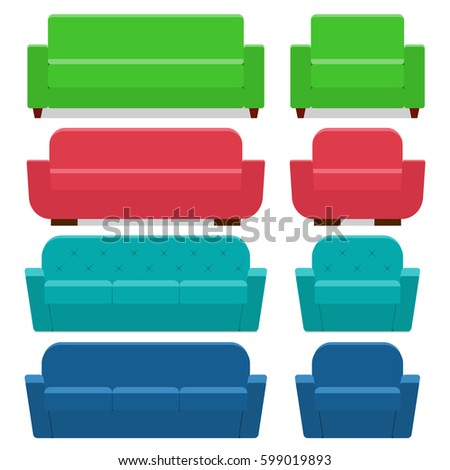 sofas and armchairs in flat
