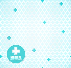 Soft Blue medical seamless pattern with crosses