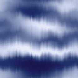 Soft blurry indigo ikat gradient ombre seamless repeat vector eps 10 pattern. Out of focus smooth fantasy wavy distressed graphical motif.