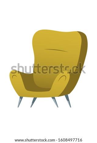 soft chair furniture cartoon
