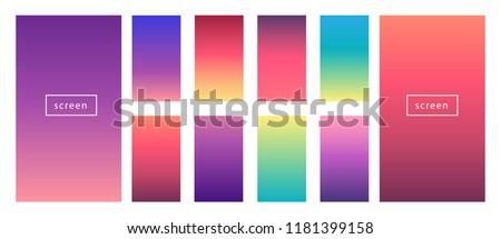 Soft color background. Modern screen vector design for mobile app. Soft color gradients.