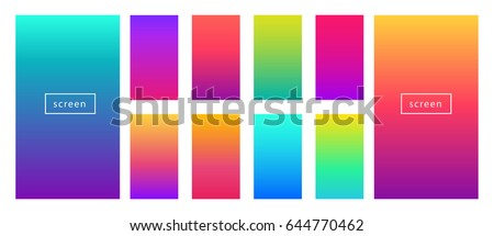 Soft color background. Modern screen vector design for mobile app. Soft color gradients. - Shutterstock ID 644770462