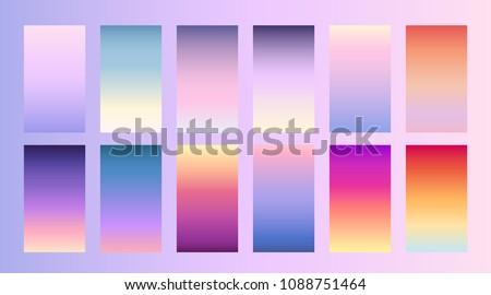 Soft color background Trendy screen vector design for landing page, smartphone, mobile app Soft multicolor gradients Modern palette