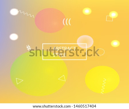 Soft color gradient background. Simple backdrop with simple muffled colors. Vector illustration elements. Yellow colored, natural screen design for user interface or mobile app.