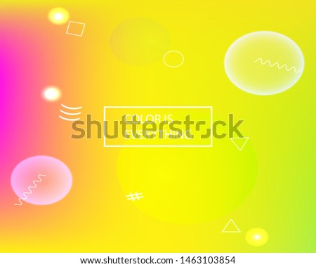 Soft color gradient background. Simple backdrop with simple muffled colors. Vector illustration theme. Yellow colored, natural screen design for user interface or mobile app.