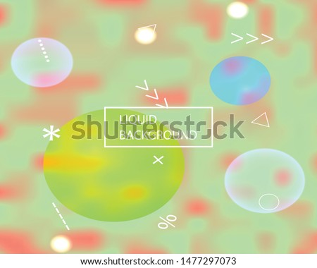 Soft color gradient background. Simple backdrop with simple muffled colors. Vector illustration concept. Green colored, natural screen design for user interface or mobile app.