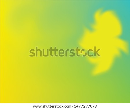 Soft color gradient background. Simple backdrop with simple muffled colors. Vector illustration texture. Yellow and green colored, natural screen design for user interface or mobile app.