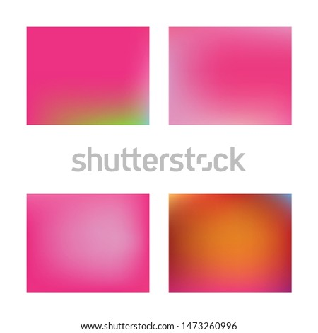 Soft color gradient background. Vector illustration elements. Simple backdrop with simple muffled colors. Pink colored, natural screen design for user interface or mobile app.