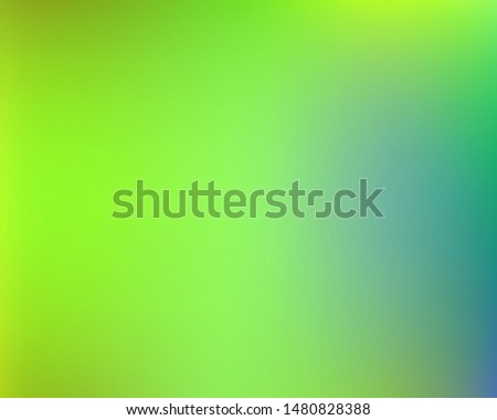Soft color gradient background. Vector illustration flyer. Simple backdrop with simple muffled colors. Green and blue colored, natural screen design for user interface or mobile app.
