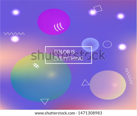 Soft color gradient background. Vector illustration vintage. Simple backdrop with simple muffled colors. Blue colored, natural screen design for user interface or mobile app.