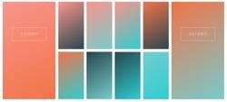 Soft color gradient backgrounds. Modern screen vector design for mobile app. Pastel gradients. Trendy soft color style, template design, business infographic, social media, ux, ui.