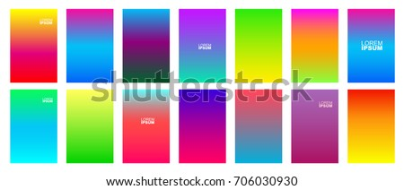 Soft color gradients background. Modern screen design for mobile app. Vector illustration. Isolated on white background