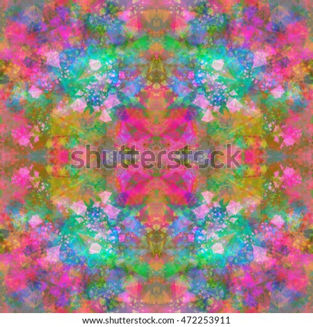 soft color transitions kaleidoscopic abstract pattern colorful