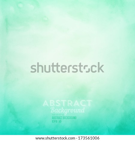 Soft colored abstract background for design. Watercolor texture effect. Eps 10 vector.