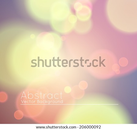 Soft Colored Abstract Background with Bokeh for Party, pastel yellow, pink violet colors