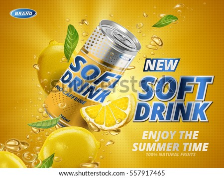 soft drink lemon flavor
