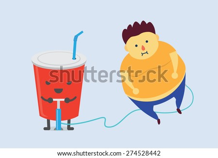 soft drink make man fat fast