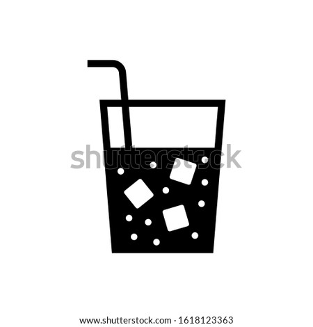 Soft drink vector icon, soft drink icon symbol sign, drinks  in black flat shape design isolated on white background