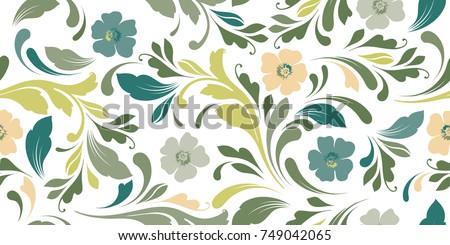 Seamless floral pattern download free vector art stock graphics floral seamless background for textile wallpapers wrapping paper mightylinksfo
