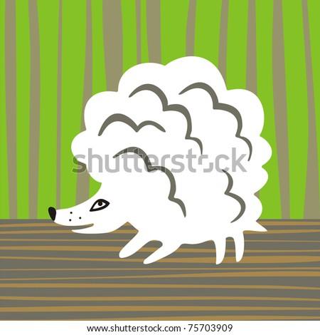 Soft hedgehog without thorns. Looks like a lamb