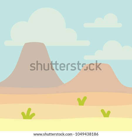 soft nature landscape with blue