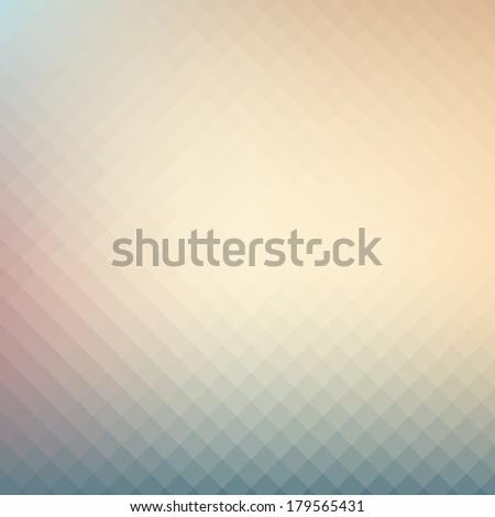 Soft pastel tone color geometric, mosaic hipster design background.