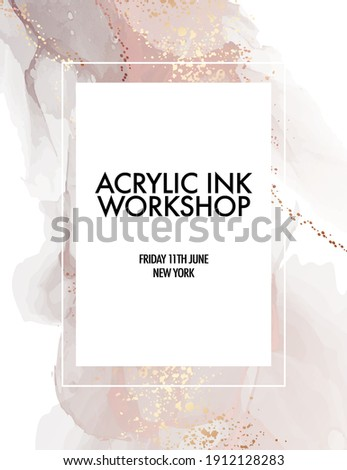 Soft pink gold splash background painting, wall art design, workshop template, presentation cover
