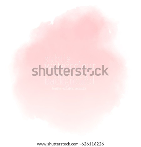 soft pink watercolor