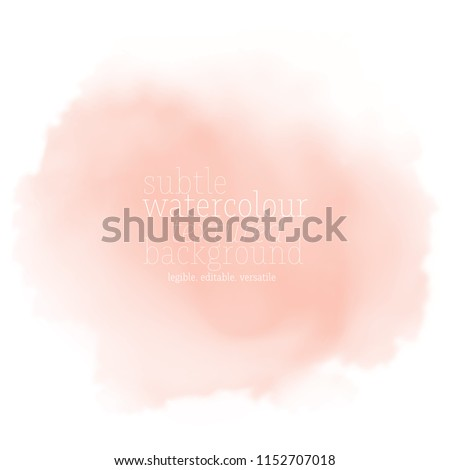 soft pink watercolor splotch. vector eps 8