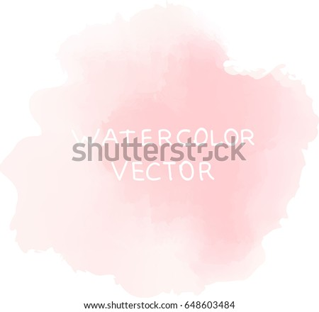 soft pink watercolor  vector