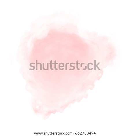 soft pink watercolor, vector