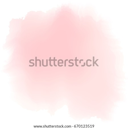 soft pink watercolor  vector