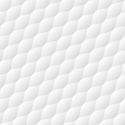 Soft quilt diagonal seamless pattern. Neutral white tileable vector background.