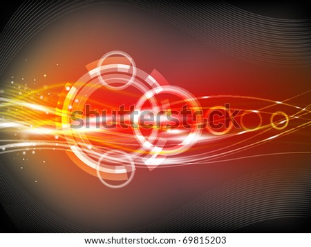 Soft striped orange and red background with lines for the design work