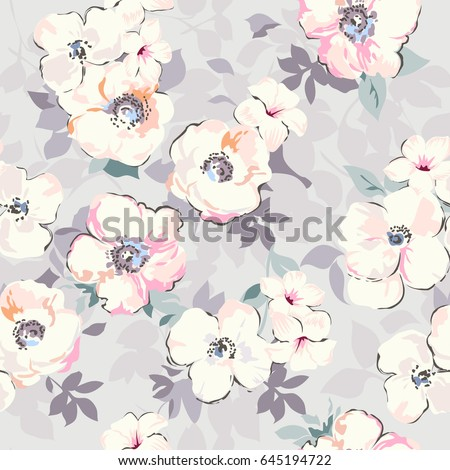 soft watercolor like floral...