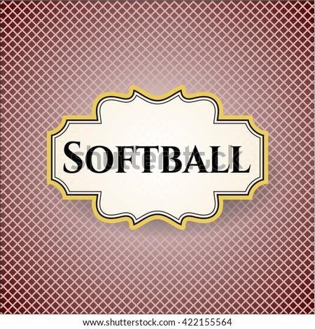 Softball card, poster or banner