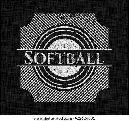 Softball chalk emblem