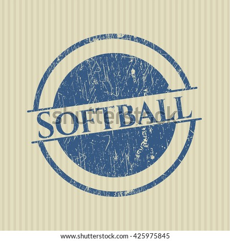 Softball rubber seal with grunge texture