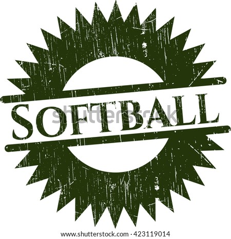 Softball rubber texture