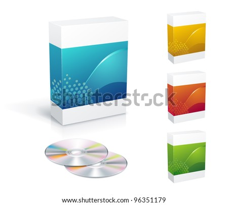 Software box set with copy space stock vector illustration Vector image software