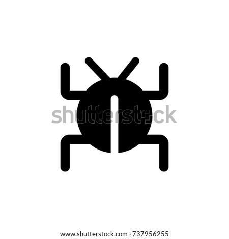 Software bug or program bug icon on white background