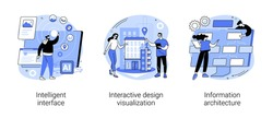 Software development abstract concept vector illustrations.