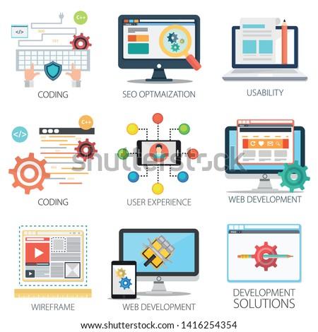 Software development, SEO Optimization, Coding, Web development, App or application development