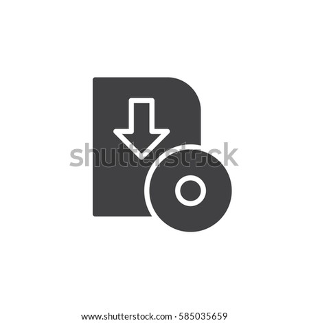 Software download icon vector, filled flat sign, solid pictogram isolated on white. Symbol, logo illustration