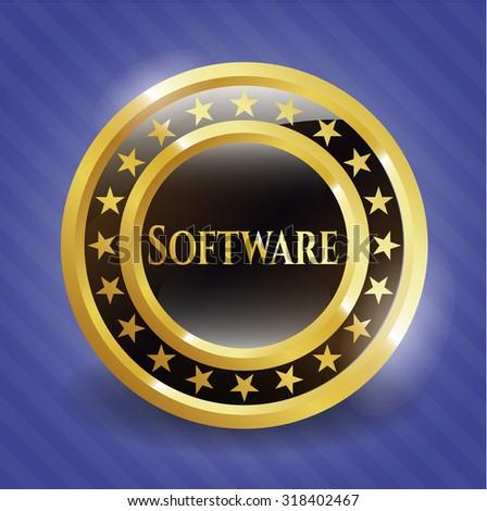 Software gold shiny badge