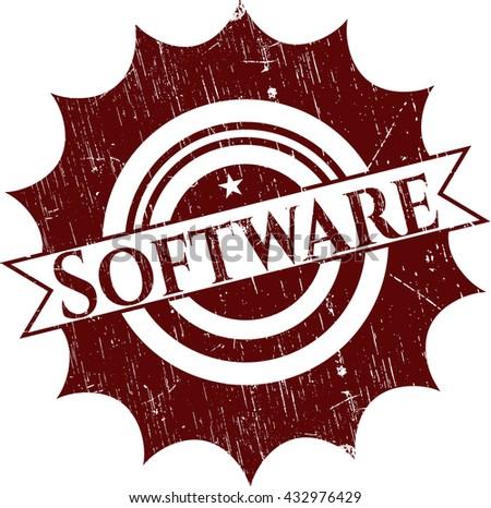 Software grunge style stamp